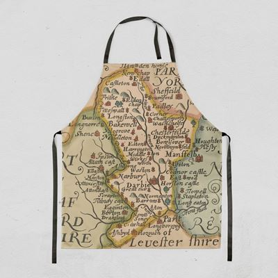 Christopher Saxton Derbyshire Map Apron