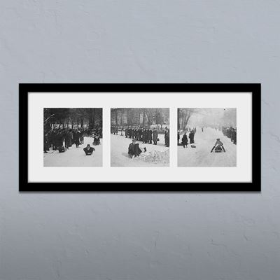 Winter Fun in the Peaks Framed Print