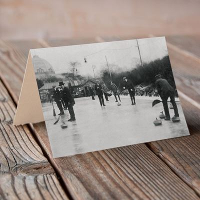 Gents Curling at Buxton– Greeting Card