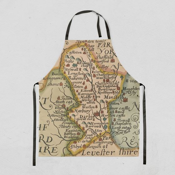 John Speed 1610 Derbyshire Map Apron