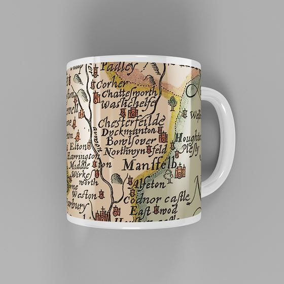 John Speed 1610 Map pf Derbyshire Mug