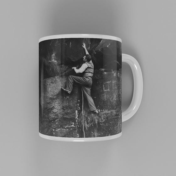 Climbing in the Peak District - Cliff Face Mug